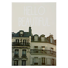 Buy Lagom Designs Hello Beautiful Valentine's Card Online at johnlewis.com