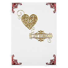 Buy Paperhouse Husband Valentine Valentine's Card Online at johnlewis.com