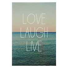 Buy Lagom Designs Love Laugh Live Valentine's Card Online at johnlewis.com