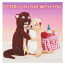Buy Mint Publishing Otterly In Love Valentine's Card Online at johnlewis.com