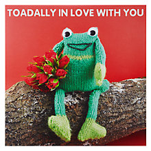 Buy Mint Publishing Toadally In Love Valentine's Card Online at johnlewis.com