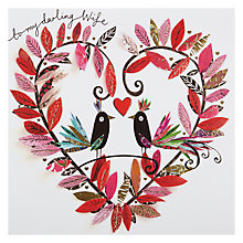 Buy Paperrose Wife Birds Valentine's Card Online at johnlewis.com