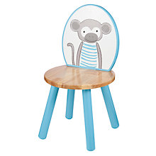 Buy John Lewis Baby's Noah's Ark Monkey Chair, Blue Online at johnlewis.com