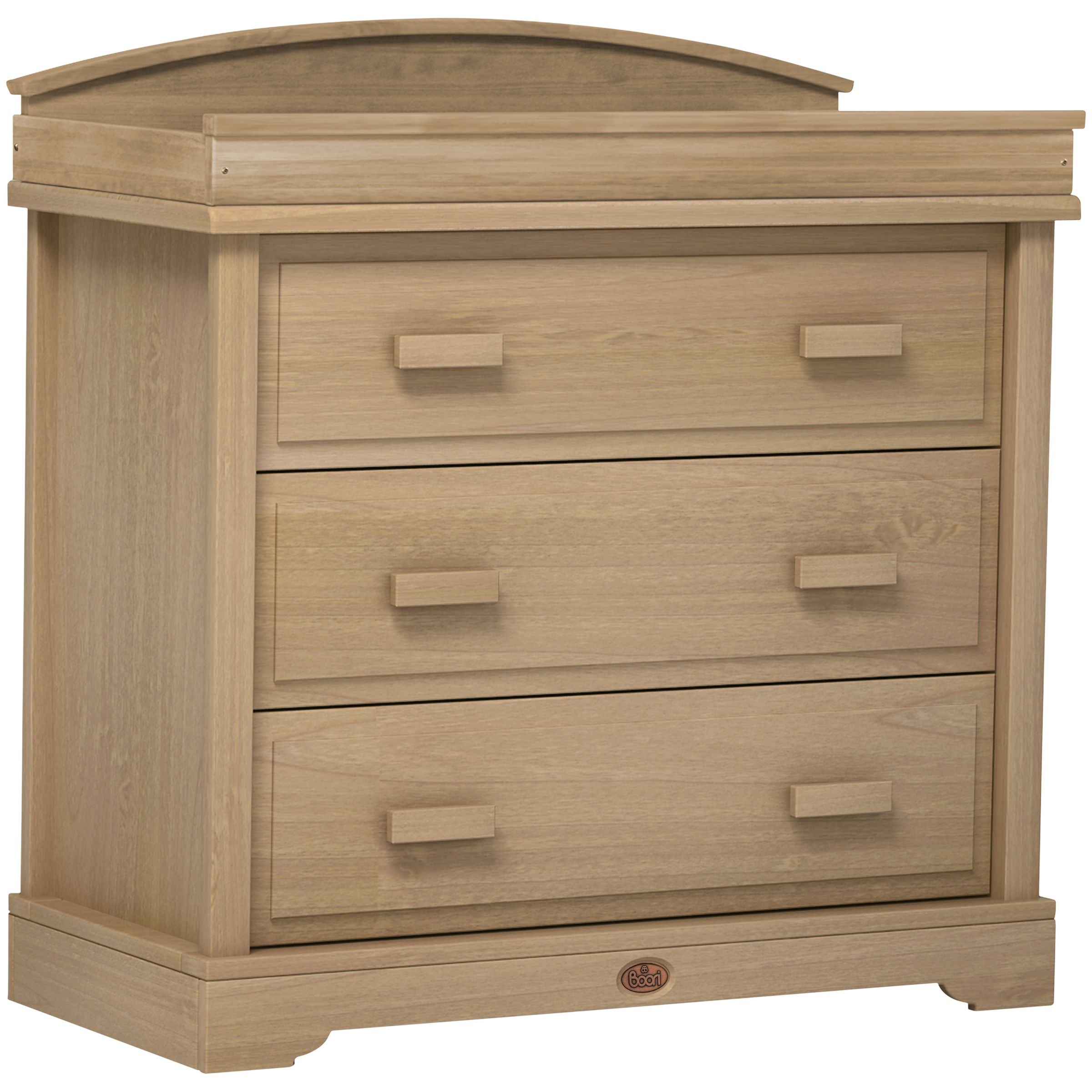 Boori Boori 3 Drawer Dresser with Arched Change Station, Almond