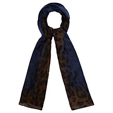 Buy Viyella Abstract Animal Scarf, Navy/Chocolate Online at johnlewis.com