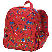 Buy Babymel Trains Single Backpack, Red/Multi Online at johnlewis.com
