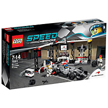 Buy LEGO Speed Champions Mclaren Mercedes Pit Stop Online at johnlewis.com