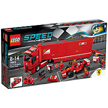 Buy LEGO Speed Champions 75913 F14 T & Scuderia Ferrari Truck Online at johnlewis.com