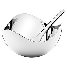 Buy Georg Jensen Bloom Salt Cellar and Spoon Set Online at johnlewis.com