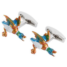 Buy Simon Carter Flying Ducks Cufflinks, Multi Online at johnlewis.com