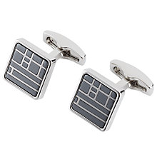Buy Simon Carter Haematite Tile Cufflinks, Grey Online at johnlewis.com