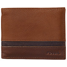 Buy Fossil Newell Leather Wallet, Cognac Online at johnlewis.com