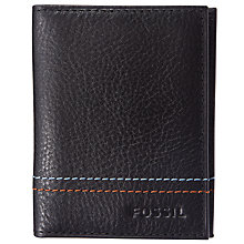 Buy Fossil Jude Leather Card Case, Black Online at johnlewis.com