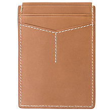 Buy Fossil Ramsey Leather Magnetic Card Case, Brown Online at johnlewis.com