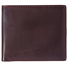 Buy Fossil Truman Bifold Leather Card Case, Burgundy Online at johnlewis.com