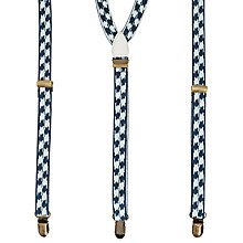 Buy Scotch & Soda Uneven Square Braces, One Size, Blue/White Online at johnlewis.com