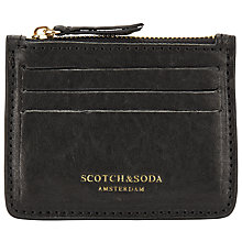 Buy Scotch & Soda Leather Zip Wallet, Black Online at johnlewis.com