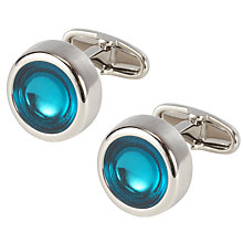 Buy Denison Boston Polo Jewell Cufflinks, Turquoise Online at johnlewis.com