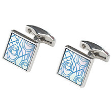 Buy Simon Carter Peacock Feather Cufflinks, Blue Online at johnlewis.com
