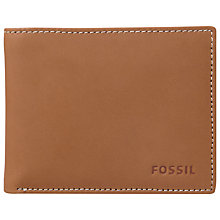 Buy Fossil Ramsey Leather Wallet, Brown Online at johnlewis.com