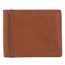 Buy Fossil Ingram Traveller Leather Wallet, Cognac Online at johnlewis.com