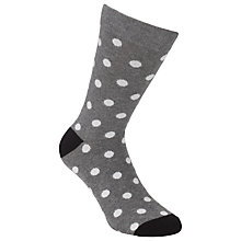 Buy Selected Homme Large White Spot Pattern Socks, One Size Online at johnlewis.com