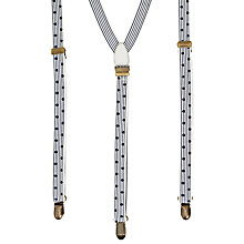 Buy Scotch & Soda Polka Dot Braces, One Size, Black/White Online at johnlewis.com