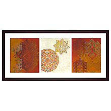 Buy Chariklia Zarris - Golden Henna Framed Print, 104 x 50cm Online at johnlewis.com
