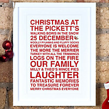 Buy Megan Claire Personalised Christmas Framed Print, 35.5 x 27.5cm Online at johnlewis.com