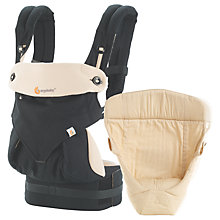Buy Ergobaby 360 Bundle of Joy Baby Carrier, Black Online at johnlewis.com