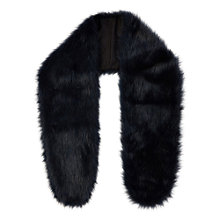 Buy Coast Faux Fur Scarf, Navy Online at johnlewis.com