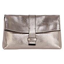 Buy Coast Tanya Leather Clutch Bag, Gun Metal Online at johnlewis.com