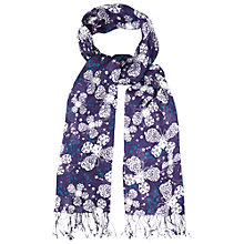 Buy White Stuff Patterned Butterfly Scarf, Purple Online at johnlewis.com