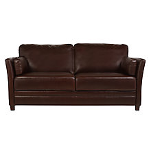 Buy John Lewis Hamilton Large Leather Sofa, Rodeo Brown Online at johnlewis.com