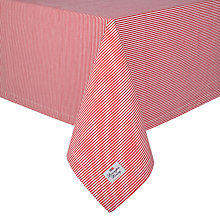 Buy Lexington Oxford Stripe Red Tablecloth, Red/White Online at johnlewis.com