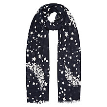 Buy Hobbs Star Scarf, Navy/Ivory Online at johnlewis.com