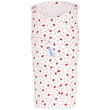 Buy Grobag Ladybird Swaddling Blanket, White/Red Online at johnlewis.com