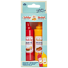 Buy Natural Products Ketchup and Mustard Highlighter and Pen Set Online at johnlewis.com