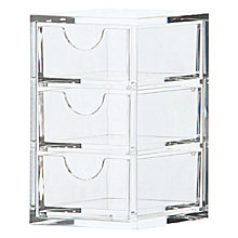 Buy Osco 3 Drawer Acrylic Storage Box, Small Online at johnlewis.com