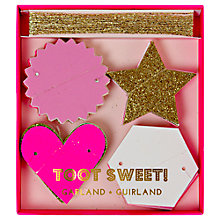 Buy Meri Meri Toot Sweet Mini Garland, Pink Online at johnlewis.com