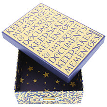 Buy Emma Bridgewater Paisley Storage Box, Blue Online at johnlewis.com