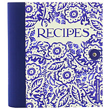 Buy Emma Bridgewater Recipe Journal, Blue Online at johnlewis.com