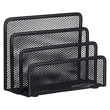 Buy Osco Mesh Letter Holder, Charcoal Online at johnlewis.com