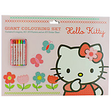 Buy Hello Kitty Home Sweet Home Giant Colouring Set Online at johnlewis.com