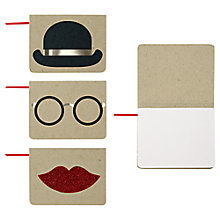 Buy Meri Meri Hat Glasses Lip Notebooks, Set of 3 Online at johnlewis.com