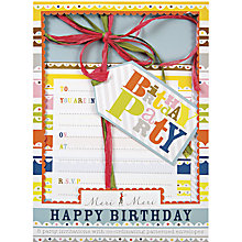 Buy Meri Meri Birthday Invitations, Pack of 8 Online at johnlewis.com