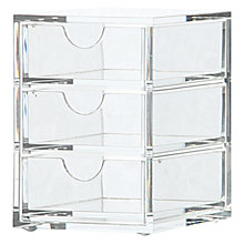 Buy Osco Acrylic 3 Drawer Storage Box, Medium Online at johnlewis.com