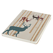 Buy Go Stationary Stags Notebook, A5 Online at johnlewis.com