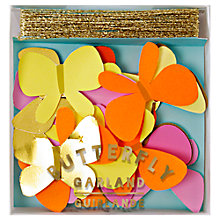 Buy Meri Meri Butterfly Mini Garland Online at johnlewis.com