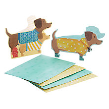 Buy Galison Dashund Notecards, Pack of 10 Online at johnlewis.com